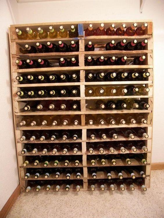 30 meubles faire avec des palettes grottes vin et - Cave a vin meuble ...
