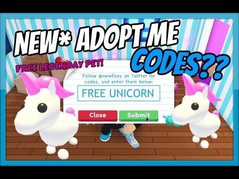 New Adopt Me Codes All Working Free Unicorn And More Roblox