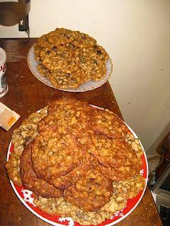 Oatmeal chocolate chip and Oatmeal raisin cookies.