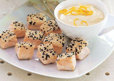 Sesame-Crusted Salmon with Orange-Miso Sauce | Recipe | Salmon, Sauces ...