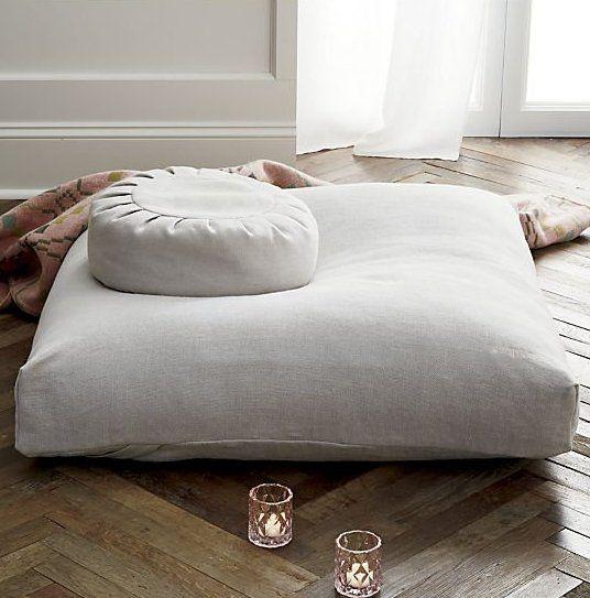 Sedona Large Zabuton Floor Pillow Reviews Cb2 Floor Pillows Large Floor Cushions Meditation Room Decor