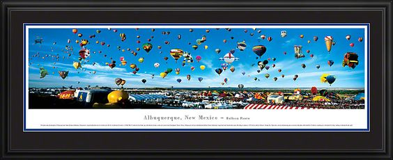 Albuquerque, New Mexico-Balloon Fiesta Skyline Picture - Panoramic Picture $199.95