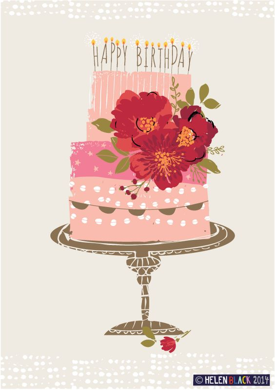 Birthday Cake illustration: