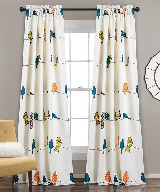 Take A Look At This White Rowley Birds Room Darkening Curtain