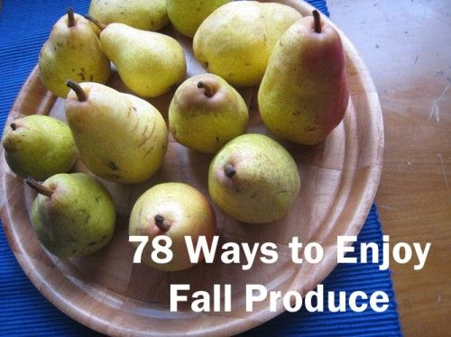 It's like a recipe index of blog recipes for the fall. Both fruit and veggies!