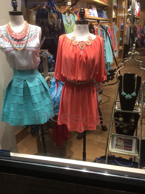 Window display I styled introducing 2014's popular spring trends.