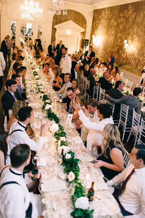 Family Style Reception Seating | Nikki Santerre Photography | TheKnot.com