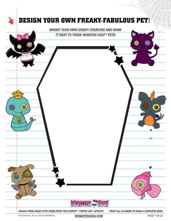 Printables Free Monster High Printable Activities watzit images activities activity books and monster high book printable wiki