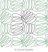 Digital Quilting Design Spring Loaded by Crystal Smythe.