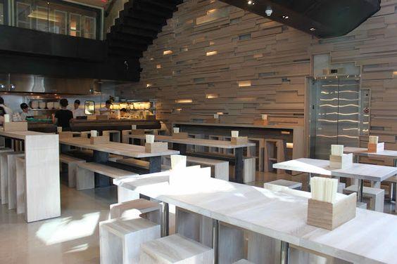 Momofuku Noodle Bar - Toronto. Ramen joint inside Shangri-La Hotel.