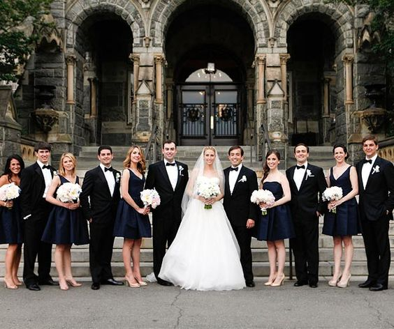 navy and black wedding - Google Search | Wedding Party Looks ...