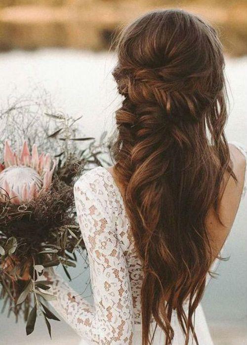 Most Gorgeous Boho Braided Beach Wedding Hairstyles For Pretty Girls Boho Wedding Hair Bride Hairstyles Wedding Hairstyles Bridesmaid