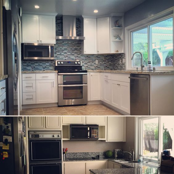 Before / after kitchen remodel pictures. 1. Whirlpool double-oven ...