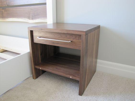 walnut nightstand for model home