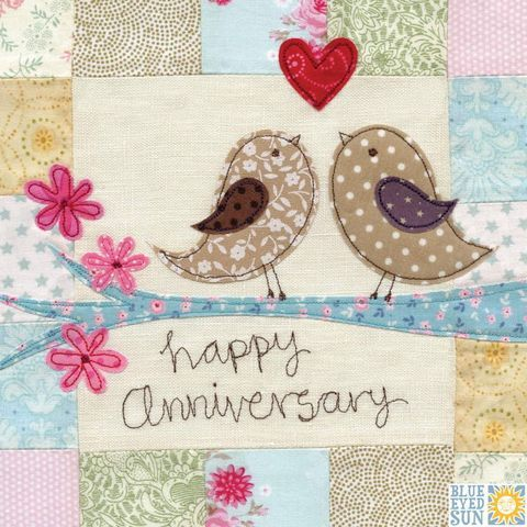 Birds On A Branch Anniversary Card Large Luxury Wedding Anniversary Card Happy Wedding Anniversary Wishes Happy Anniversary Cards Happy Wedding