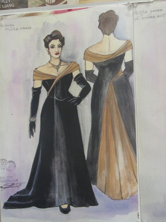 Another costume design for The Little Foxes production at the #clevelandplayhouse for the 2014-2015 season. #art #costume #design #drawing