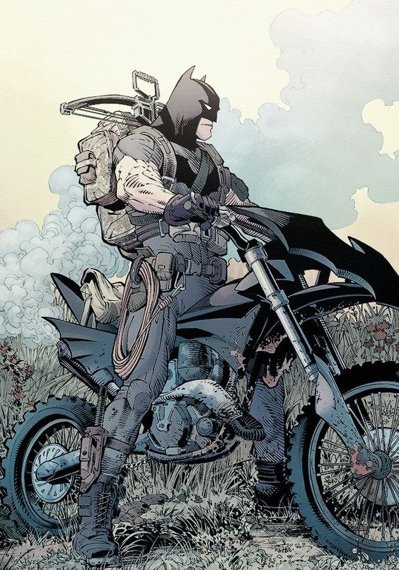 Batman by Greg Capullo. Does this remind you of Steve McQueen in the 'Great Escape'?