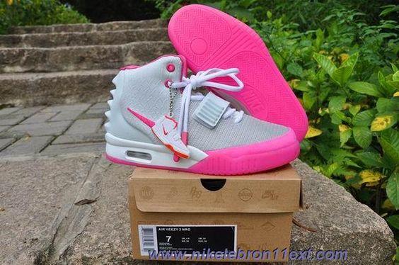 Wolf Grey/Pink Shoes Nike Air Yeezy II Women Shoes Sale