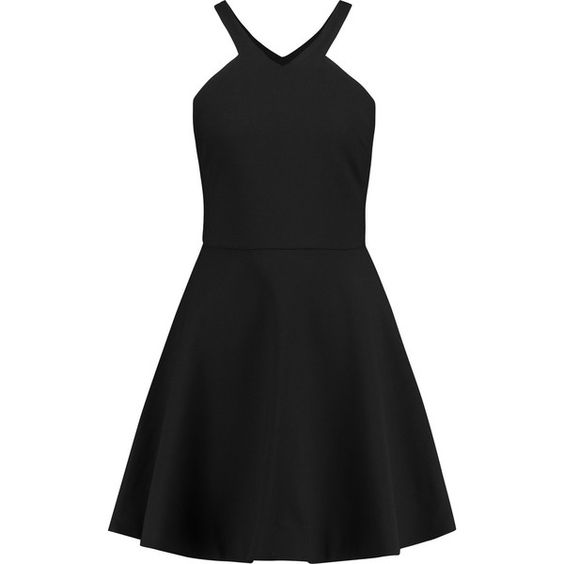 Elizabeth and James Sonya cady mini dress ($179) ❤ liked on Polyvore featuring dresses, black, loose fit dress, black dress, loose dress, fitted dresses and elizabeth and james dresses