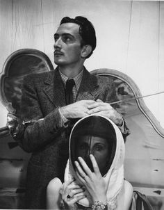 Salvador Dali and Gala photographed by Cecil Beaton, 1936.