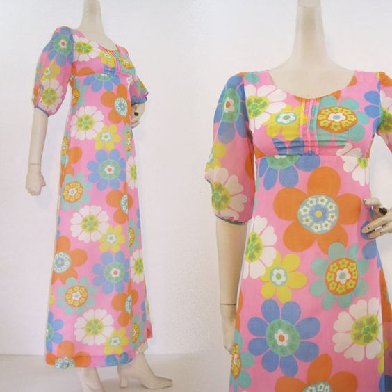 7 for all mankind maxi dress 60s