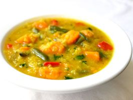 Spicy Red Lentil Vegetable Soup: We're on a red lentil kick this week ...