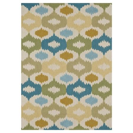 Mustard, green and teal Ikat rug. This would be perfect for our bedroom, office or living room? I dont know, but I love it!