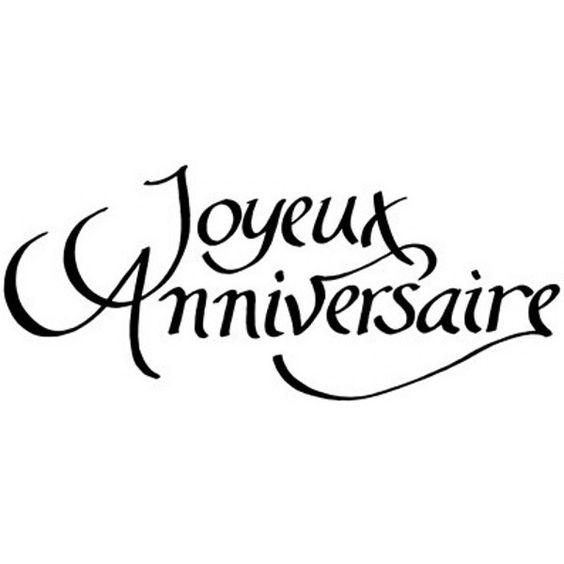 écritue: joyeux anniversaire