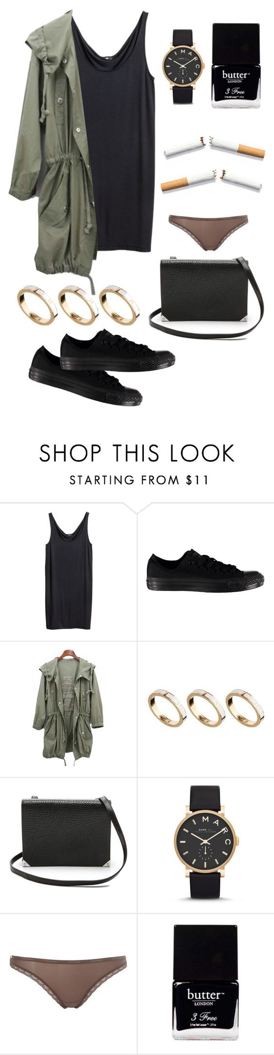 """""""Shopping days."""" by sirenex ❤ liked on Polyvore featuring H&M, Converse, ASOS, Alexander Wang, Marc by Marc Jacobs, Calvin Klein, Butter London, women's clothing, women and female"""