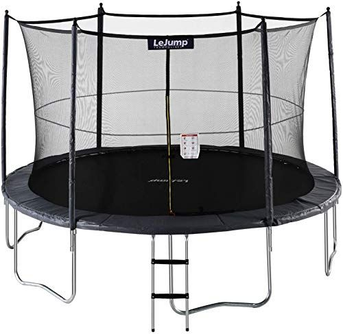 Chic Lejump Skysurf Trampolines 10ft 12ft With Safety Pad Enclosure Net Ladder Free Socks Optional Bask Basketball Hoop Star Of David Pendant Backpacking Boots