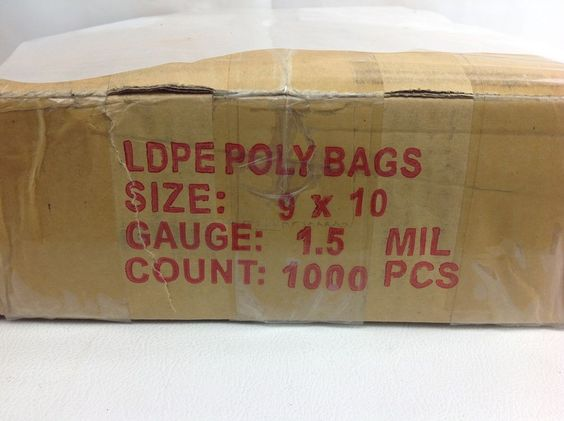 1000 Clear Poly Bags 9x10 Flat Open End Ldpe Case Plastic Bags 1 5 Mil Shipping Poly Bags Bags Plastic Bag