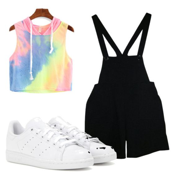 """Untitled #48"" by hlh14 on Polyvore featuring American Apparel and adidas"