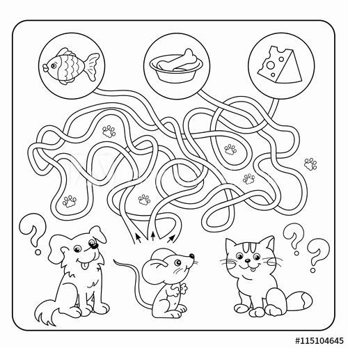 Animal Coloring Book Games Unique Maze Or Labyrinth Game For Preschool Children Puzzle