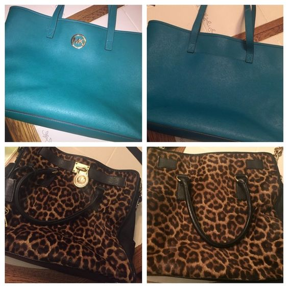 2 Michael Kors bags AWESOME DEAL!!! Buy together for 435. Leopard bag is large Hamilton, retails for 548. In pretty good condition. Make an offer. Comment for separate prices. 100% authentic Michael Kors Bags Satchels