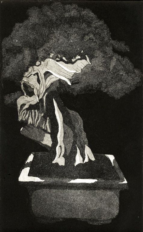 "Andre Rain; Etching, 2010, Printmaking ""THREE"""