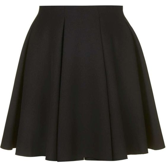 TopShop Box Pleat Flippy Skirt (€11) ❤ liked on Polyvore featuring skirts, elastic waist skirt, topshop, topshop skirts, box pleat skirt and flippy skirt