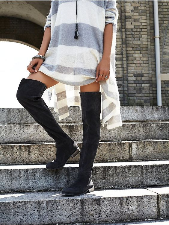 Free People Carlisle Suede Over the Knee Boot | Free people, The o ...