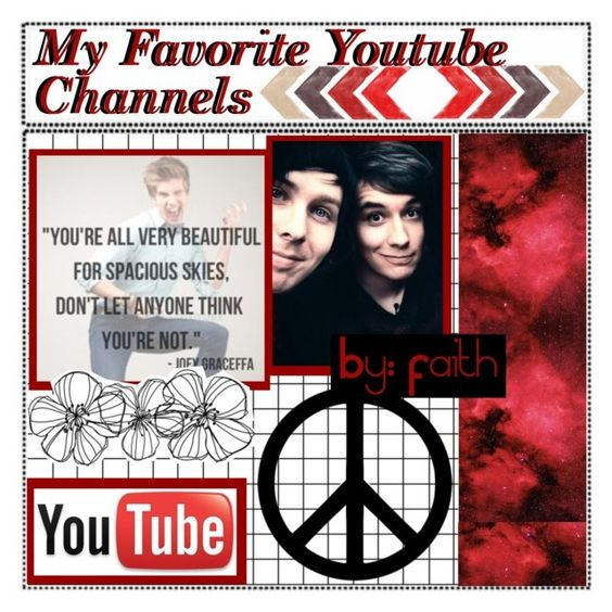 """&& ✦ my favorite YouTube channels // faith"" by alternative-tips-and-icons ❤ liked on Polyvore featuring art, rememberthisfaith and tipsbyfaith"