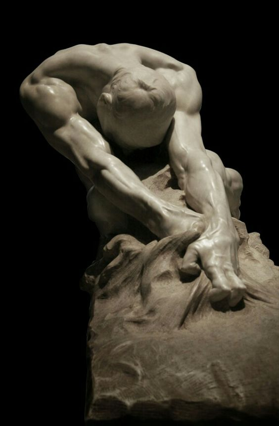 """'umanità contro il male /Humanity against Evil, now at Rome's National Gallery of Modern Art (GNAM), was one of the first works by Ravenna-born sculptor Gaetano Cellini (1873-1937). Cellini presented the plaster model at the Milan Expo of 1906, for which he won the prestigious """"Premio Fumagalli dell'Accademia di Brera"""".  On the base, he inscribed the title of the work and a couplet explaining its meaning: """"Thus I'll extirpate using my teeth and  the eternal pain that stings my heart""""…"""