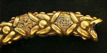 Detail on a Torc found in Castro de Xanceda   Xanceda Celtic Hillfort   Mesía, A Coruña,Galiza, Gallaecia
