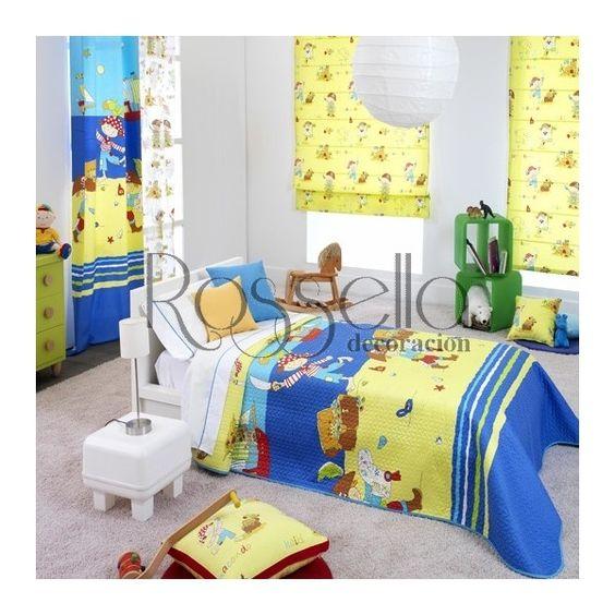 Ropa de cama infantil,telas,papeles, cenefas,cojines,estores ...