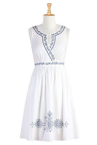 Summer white cotton dress