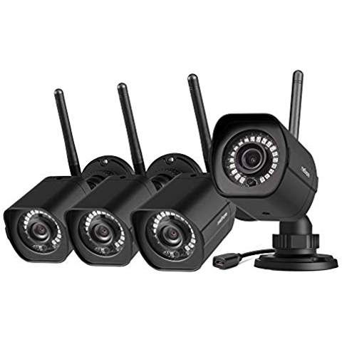 Meshare Security Camera System Wireless 4 Pack 1080p Outdoor Camera Smart Home Wifi Ip C Security Camera System Wireless Home Security Home Security Systems