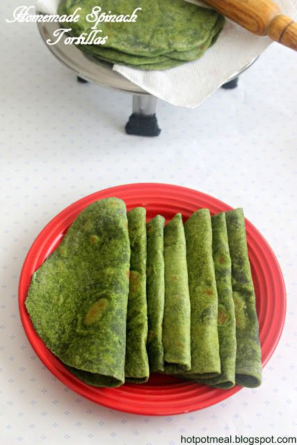Homemade Spinach Tortillas