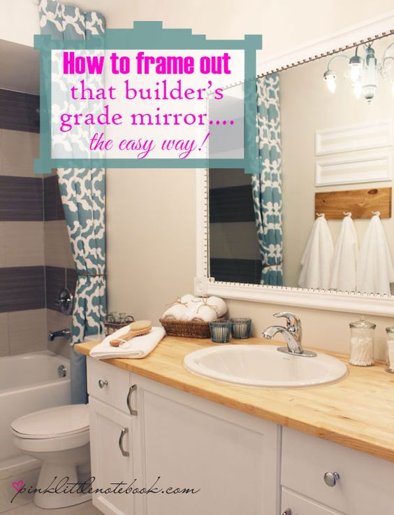 Mirror Decoration frame builder grade mirror : How To Frame Out That Builderu2019s Grade Mirroru2026the easy way! : We ...