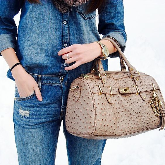 All denim everything except for this maxxinista... with the exception of that awesome textured bag!