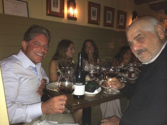 Bill Terlato and Marvin Shanken drinking Gaja in the Tavern.
