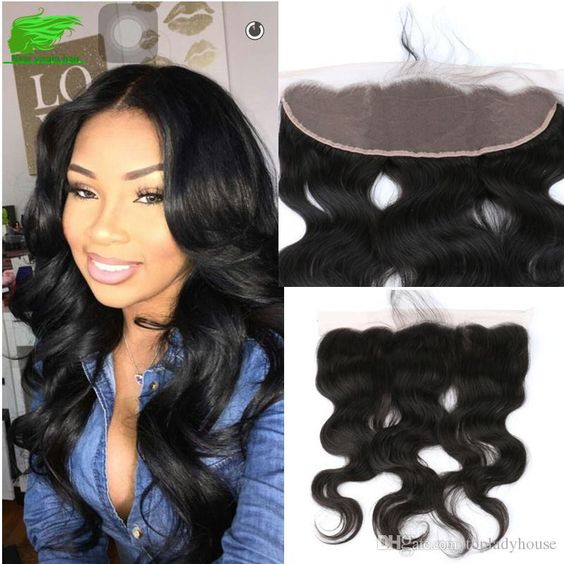 7a Unprocessed Brazilian Lace Frontal Closure 13x4/ 13x2 Body Wave Lace Frontal…