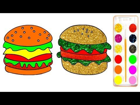 Glitter Hamburger Coloring Pages How To Make A Play Doh Hamburger Fun F Coloring Pages Fun Play Doh