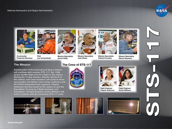 STS-117 Crew poster
